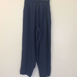 Vintage handmade blue silk palazzo pants